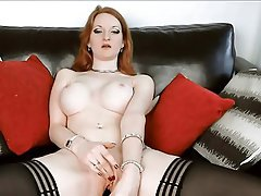Big Boobs British Masturbation Redhead