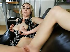 Blonde British Masturbation POV