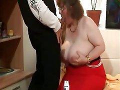 BBW Big Boobs Granny