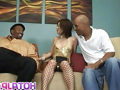 Asian Hardcore Interracial Japanese Threesome
