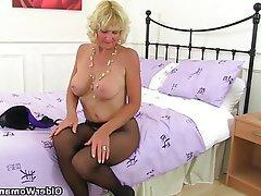 British Granny Mature MILF Pantyhose