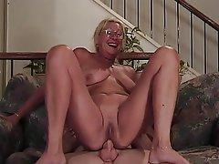 Blowjob Facial Granny Blonde