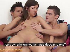 Casting Czech Orgasm Pornstar Threesome