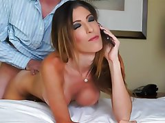 Blowjob Brunette Close Up Cumshot