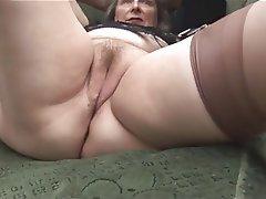 Amateur Granny Masturbation Mature Stockings