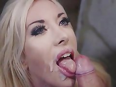 Blonde, Blowjob, British, Cumshot, Facial