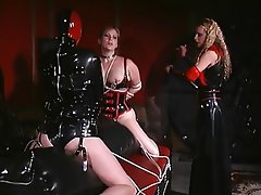 BDSM Lesbian Threesome Blonde