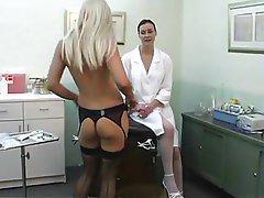 Lesbian nurse takes adavantage of patient