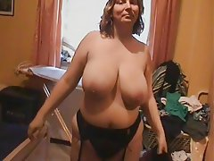 Anal BBW Big Boobs Masturbation Stockings