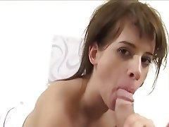 Blowjob Brunette Close Up Cumshot MILF