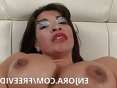 Horny mature  anal masturbating