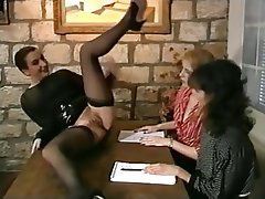 French Lesbian Threesome Vintage