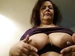 Milf nipple twisting