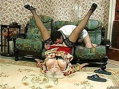 BBW Granny Mature Russian Stockings
