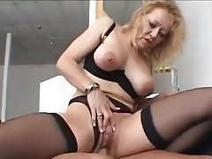 Granny Lingerie MILF Old and Young Stockings