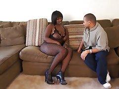 Interracial MILF Blowjob Big Boobs Brunette