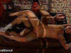 BDSM Bondage Brunette Russian Spanking