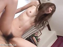 Asian Blowjob Cumshot MILF Stockings