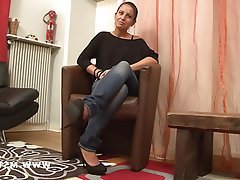 Amateur Brunette Casting French