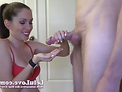 Wife amateur close up handjob with cumshot