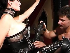Anal BDSM German Latex Strapon