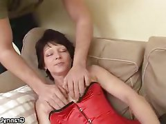 Granny Lingerie Masturbation Mature