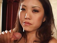 Interracial Asian Big Boobs Brunette Facial