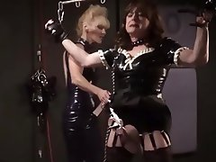 BDSM Femdom Latex Spanking Stockings