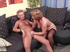 German Granny Hardcore MILF Stockings