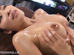 Asian Babe Big Tits Lesbian Stockings