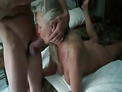 Amateur Blowjob French Granny