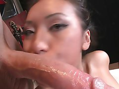Asian Blowjob Brunette Foot Fetish Interracial