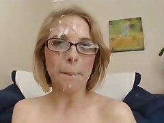 Blonde Bukkake Facial
