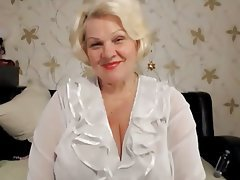 BBW Blonde Granny Russian