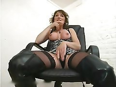 Anal, Brunette, Hardcore, Stockings