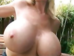 Big Boobs Blonde Masturbation Outdoor