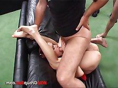 Amateur Anal Bukkake Group Sex