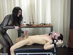BDSM Bondage Cumshot Femdom Handjob