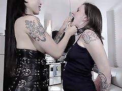BDSM Femdom Lesbian Spanking Strapon
