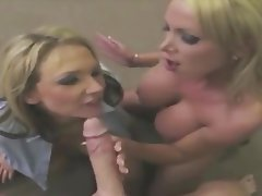 Cum in mouth Cumshot Facial Handjob Threesome