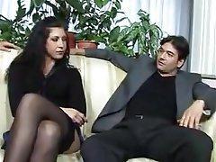 MILF Double Penetration Italian Threesome