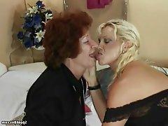 Granny Hairy Lesbian Mature Saggy Tits