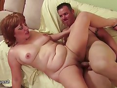 Mature MILF Old and Young Redhead Teen