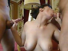 Cum in mouth Facial Threesome Big Boobs