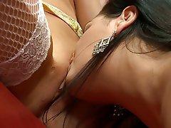 MILF Lesbian Big Boobs Brunette Lingerie