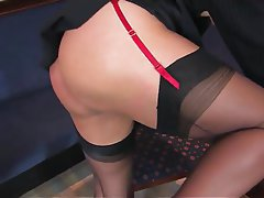 Lingerie Masturbation Mature MILF Pantyhose