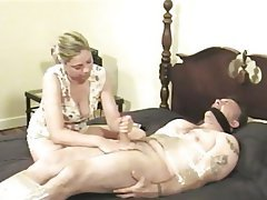 BDSM Blonde Blowjob CFNM Handjob
