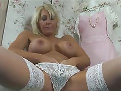 Lingerie, Masturbation, Mature, MILF, Stockings