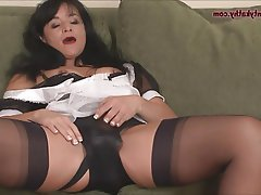 MILF, Pantyhose, Stockings, Strapon
