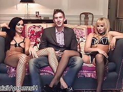 Babe British Pornstar Threesome